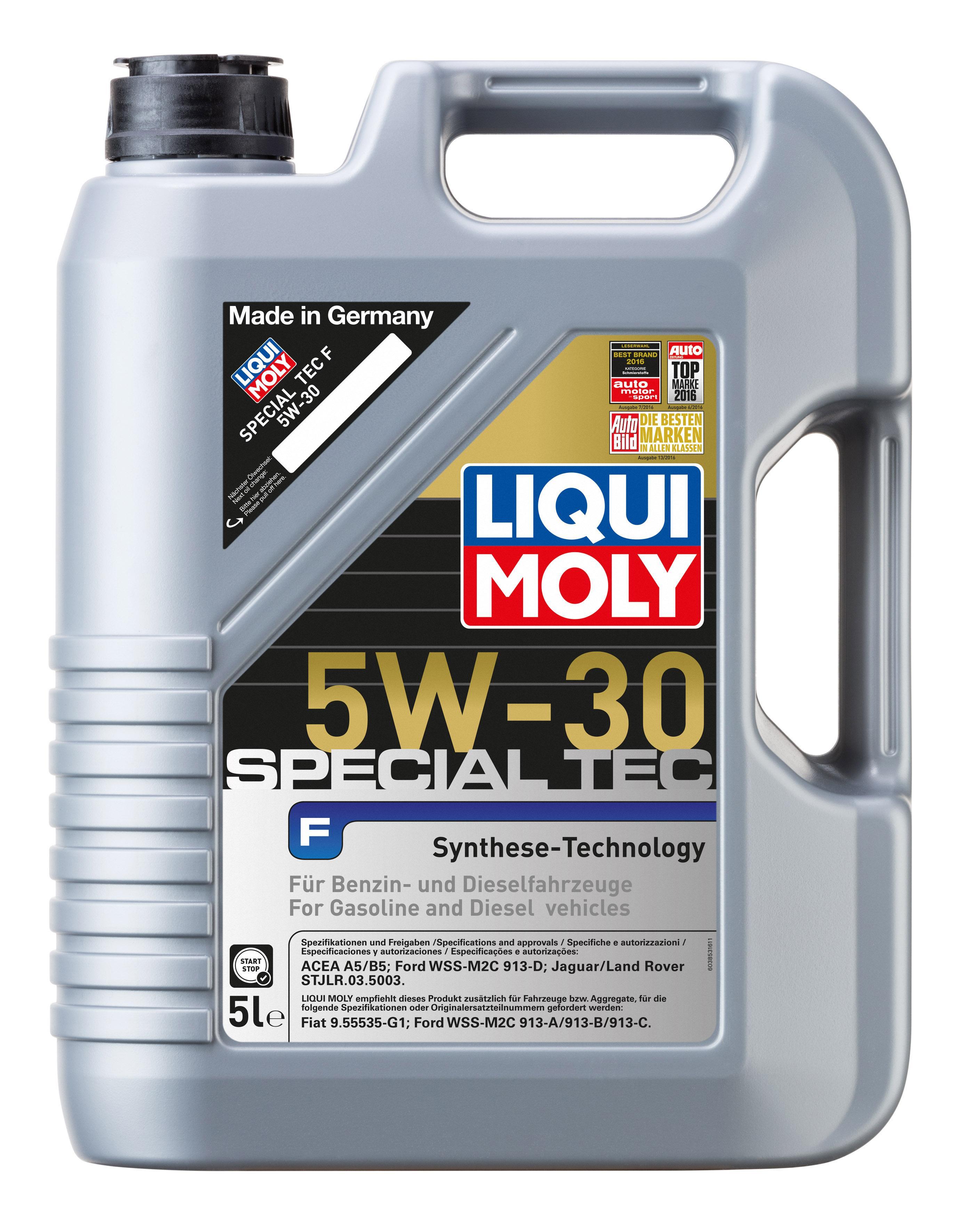 SpecialTecF5W30 LIQUI MOLY Special Tec, F 5W-30, 5W-30, 5l, Synthetiköl Motoröl 3853 günstig kaufen