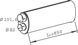 47308 DINEX Mittelschalldämpfer billiger online kaufen