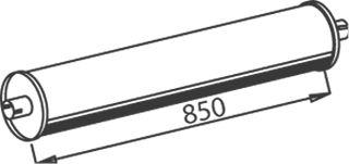Compre DINEX Panela de escape central 50302 caminhonete