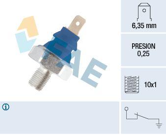 Köp FAE 11690 - Motorelektriskt till Skoda: Tryck [bar]: 0,25bar