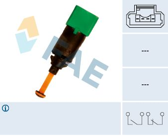 Buy Brake pedal stop light switch FAE 24899 Number of Poles: 4-pin connector
