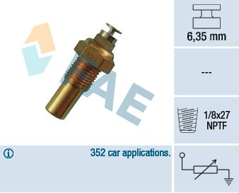 Accesorios y recambios OPEL SENATOR 1986: Sensor, temperatura del refrigerante FAE 32230 a un precio bajo, ¡comprar ahora!