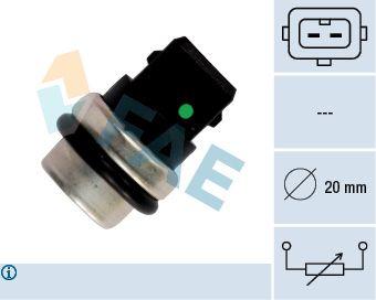Купете 33620 FAE брой на полюсите: 2-щифтен Датчик, температура на охладителната течност 33620 евтино