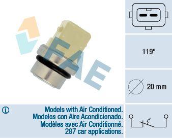 Temperaturschalter Kühlmittelwarnlampe FAE 35345