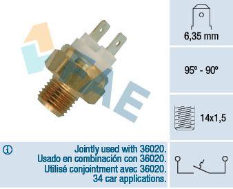 Interruptor de temperatura, ventilador do radiador 36010 comprar 24/7
