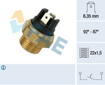 Car spare parts PORSCHE 944 1983: Temperature Switch, radiator fan FAE 37310 at a discount — buy now!