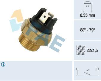 Interruptor de temperatura, ventilador do radiador 37340 comprar 24/7
