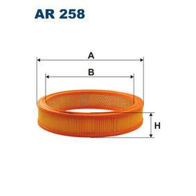Filtro de aire AR258 SEAT 128 a un precio bajo, ¡comprar ahora!