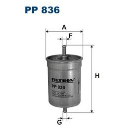 buy and replace Fuel filter FILTRON PP836