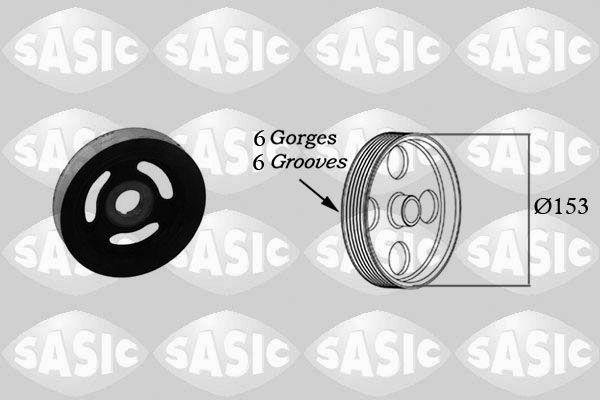 Acheter Kit de poulies vilebrequin SASIC 2150004 à tout moment
