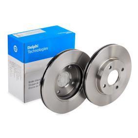 BG3359 DELPHI větráno R: 258mm, Pocet der: 4, Zesileny brzdovy kotouc: 22mm Brzdový kotouč BG3359 kupte si levně