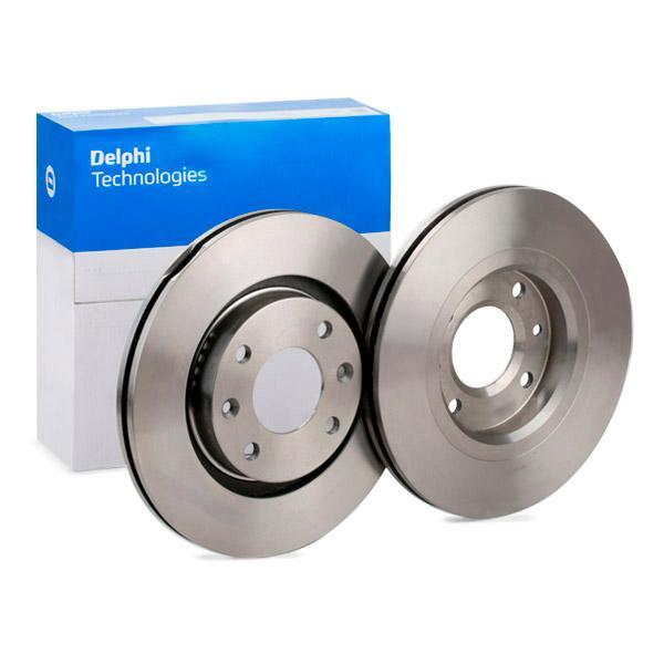 Pieces detachees PEUGEOT 2008 2016 : Disque de frein DELPHI BG3620 Ø: 266mm, Épaisseur du disque de frein: 22mm - Achetez tout de suite!