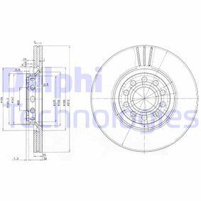 BG3657 DELPHI belüftet Ø: 312mm, Lochanzahl: 5, Bremsscheibendicke: 25mm Bremsscheibe BG3657 günstig kaufen