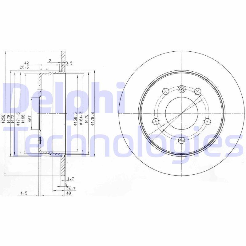 DELPHI Stabdžių diskas BG3710