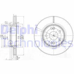 BG3733 DELPHI belüftet Ø: 280mm, Lochanzahl: 5, Bremsscheibendicke: 24mm Bremsscheibe BG3733 günstig kaufen