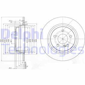 BG3757 DELPHI Voll Ø: 300mm, Lochanzahl: 5, Bremsscheibendicke: 10mm Bremsscheibe BG3757 günstig kaufen