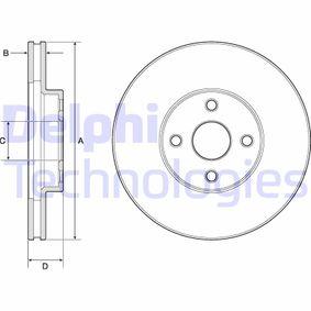 BG3780 DELPHI belüftet Ø: 275mm, Lochanzahl: 4, Bremsscheibendicke: 25mm Bremsscheibe BG3780 günstig kaufen