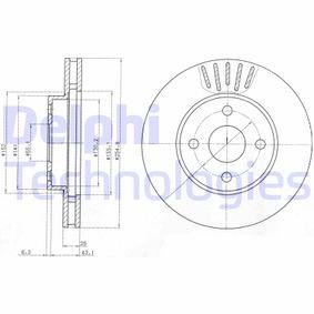 BG3781 DELPHI belüftet Ø: 255mm, Lochanzahl: 4, Bremsscheibendicke: 25mm Bremsscheibe BG3781 günstig kaufen