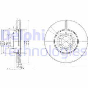 BG3833 DELPHI Vented Ø: 288mm, Num. of holes: 5, Brake Disc Thickness: 25mm Brake Disc BG3833 cheap