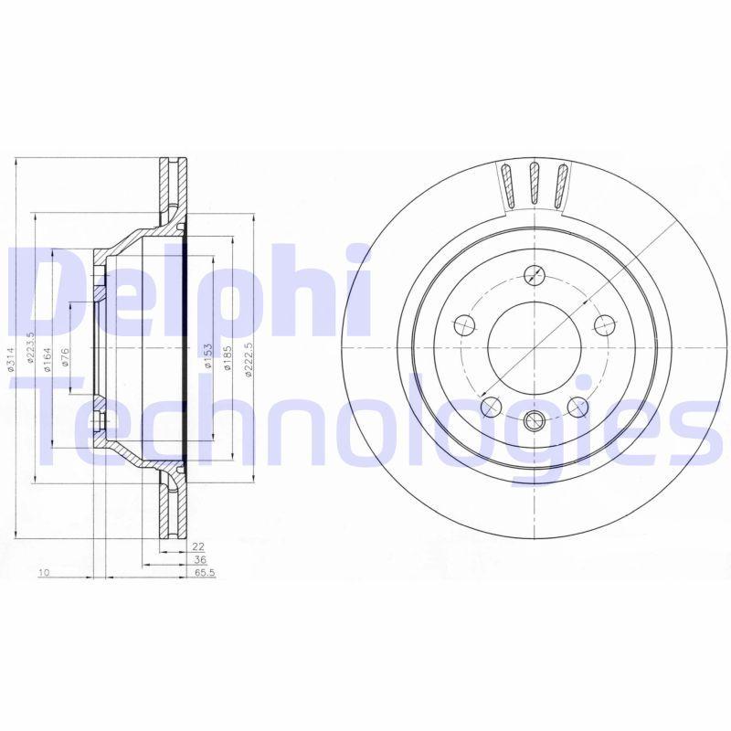 Volkswagen MULTIVAN DELPHI Disques de frein BG3894