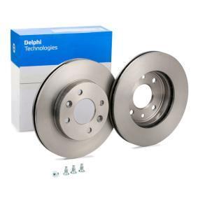 BG2282 DELPHI belüftet Ø: 238mm, Lochanzahl: 4, Bremsscheibendicke: 20mm Bremsscheibe BG2282 günstig kaufen