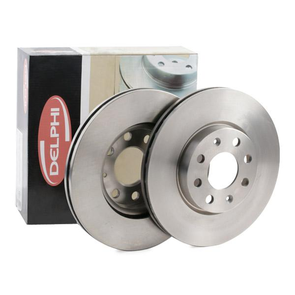 Genuine Delphi Front Vented Brake Discs Set Pair BG3547