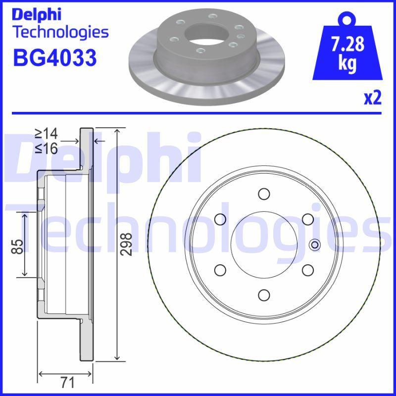 VW Disque d'Origine BG4033