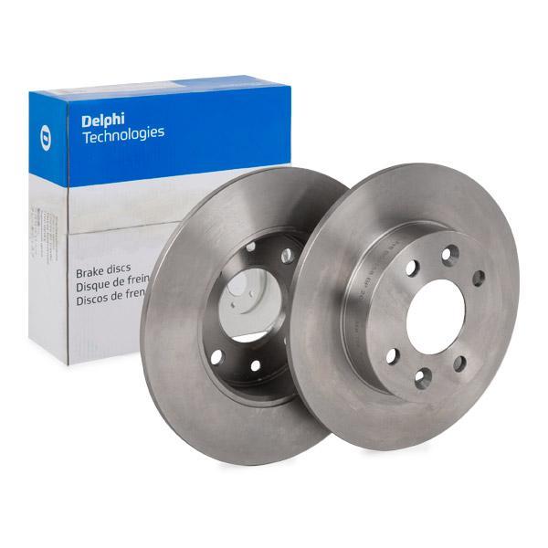 BG2258 DELPHI Voll, unbeschichtet, unbehandelt Ø: 238mm, Bremsscheibendicke: 8mm Bremsscheibe BG2258 günstig kaufen