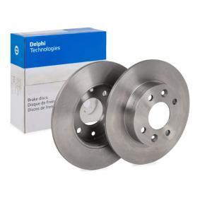 BG2258 DELPHI Voll Ø: 238mm, Lochanzahl: 4, Bremsscheibendicke: 8mm Bremsscheibe BG2258 günstig kaufen