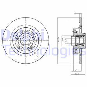 BG9023RS DELPHI Voll Ø: 300mm, Lochanzahl: 5, Bremsscheibendicke: 11mm Bremsscheibe BG9023RS günstig kaufen