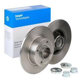 BG9028RS DELPHI Voll Ø: 240mm, Lochanzahl: 4, Bremsscheibendicke: 8mm Bremsscheibe BG9028RS günstig kaufen