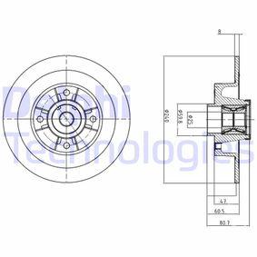 BG9028RS Bremsscheibe DELPHI - Markenprodukte billig