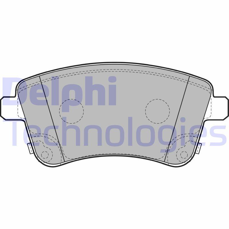 Bremsbelagsatz DELPHI LP2203