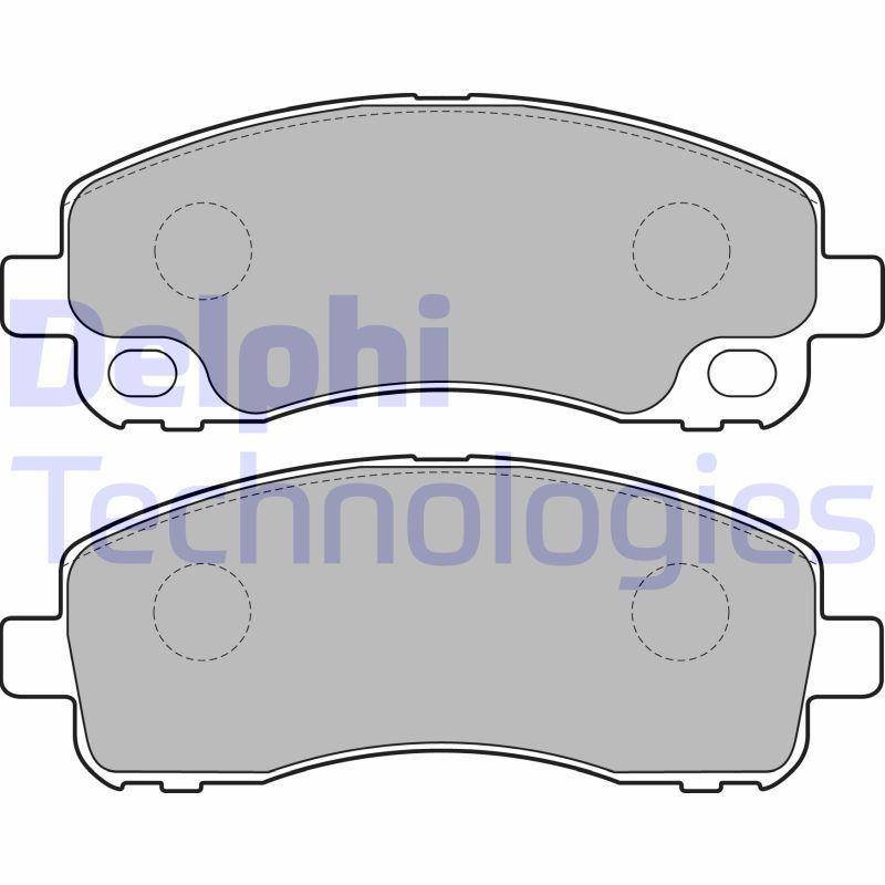 DELPHI Bremsbelagsatz, Scheibenbremse für MITSUBISHI - Artikelnummer: LP2204