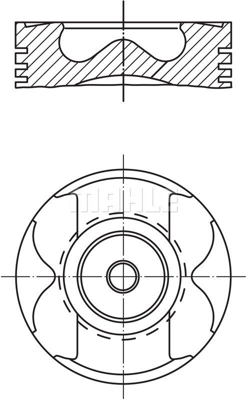 MAHLE ORIGINAL: Original Kolben 004 59 00 ()
