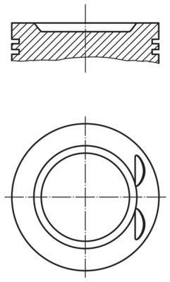 MAHLE ORIGINAL: Original Motor Kolben 011 73 00 ()