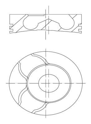 MAHLE ORIGINAL: Original Motor Kolben 022 01 00 ()