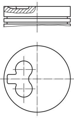 MAHLE ORIGINAL: Original Motor Kolben 029 82 00 ()