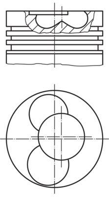 MAHLE ORIGINAL Piston for MULTICAR - item number: 030 40 00