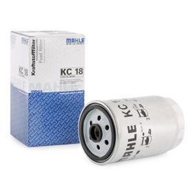 79926190 MAHLE ORIGINAL Skruvfilter H: 156,0mm, H: 160,0mm, Kåp-Ø [mm]: 81,0mm Bränslefilter KC 18 köp lågt pris