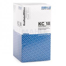 KC18 Bränslefilter MAHLE ORIGINAL - Upplev rabatterade priser