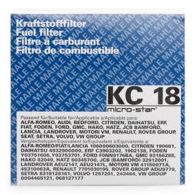 KC 18 Bränslefilter MAHLE ORIGINAL originalkvalite