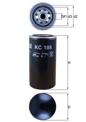 KC 188 MAHLE ORIGINAL Kraftstofffilter für GINAF billiger kaufen