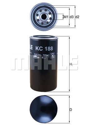 Kup MAHLE ORIGINAL Filtr paliwa KC 188 do AVIA w umiarkowanej cenie