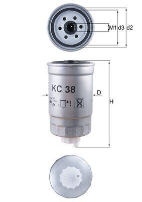 Original IVECO Spritfilter KC 38