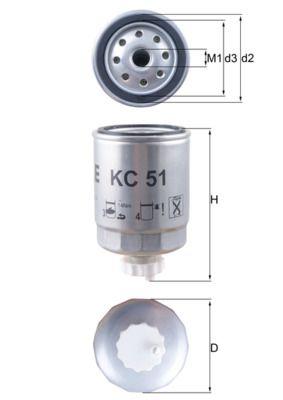 Original ROVER Benzinfilter KC 51