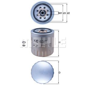 Comprar Filtro combustible de MAHLE ORIGINAL KC 63/1D a precio moderado