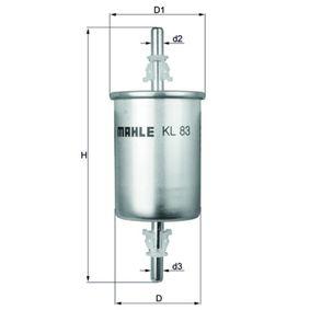 KL 83 Kraftstofffilter MAHLE ORIGINAL - Markenprodukte billig