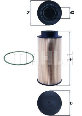 KX 182/1D MAHLE ORIGINAL Filtr paliwa do SCANIA L,P,G,R,S - series - kup teraz