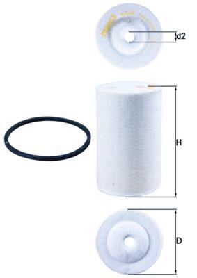 KX 68D MAHLE ORIGINAL Kraftstofffilter für MERCEDES-BENZ LP jetzt kaufen